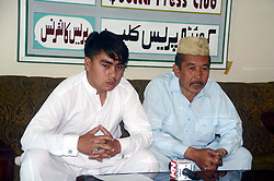May 3, 2019 - Pakistan - QUETTA, PAKISTAN, MAY 02: Resident of Hazara Town, Kashif Hussain Hyderi addresses .to media persons during press conference, at Quetta press club on Thursday, May 02, 2019. (Credit Image: © PPI via ZUMA Wire)