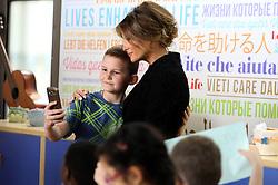 United States First Lady Melania Trump visits the Pediatric Hospital Bambin Gesu in Vatican City, Vatican.