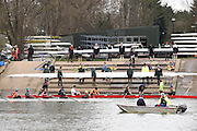 London, Great Britain.<br /> General View across the River at the Tideway Scullers School's slip way.<br /> 2016 Veterans&rsquo; Head of the River Race, Reverse Championship Course Mortlake to Putney. River Thames. Sunday  20/03/2016<br /> <br /> [Mandatory Credit: Peter SPURRIER;Intersport images]