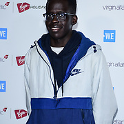 Athian Akec Arrives at 2020 WE Day UK at Wembley Arena, London, Uk 4 March 2020.
