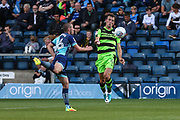 Forest Green Rovers Christian Doidge(9) controls the ball during the EFL Sky Bet League 2 match between Wycombe Wanderers and Forest Green Rovers at Adams Park, High Wycombe, England on 2 September 2017. Photo by Shane Healey.