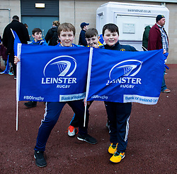Leinster fans enjoying the pre match atmosphere<br /> <br /> Photographer Simon King/Replay Images<br /> <br /> Guinness PRO14 Round 19 - Ospreys v Leinster - Saturday 24th March 2018 - Liberty Stadium - Swansea<br /> <br /> World Copyright © Replay Images . All rights reserved. info@replayimages.co.uk - http://replayimages.co.uk