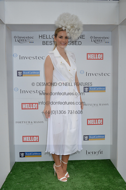 VOGUE WILLIAMS at the Investec Ladies Day at the Investec Derby Festival 2015 at Epsom Racecourse, Epsom, Surrey on 5th June 2015.