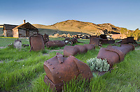 Historic mining equipment of Bannack State Park Montana