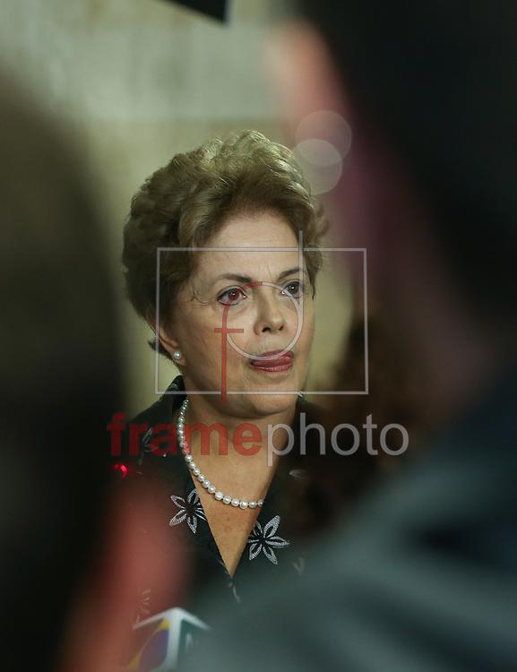 Brasília (DF), 19/03/2015. Presidenta Dilma Rousseff durante cerimônia de anúncio de Medidas de Modernização do Futebol. Foto: Lula Marques/Frame