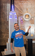 New York - Javier Munoz Lights Up The Empire State Building - 03 Oct 2016