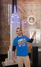 New York - Javier Munoz Lights Up The Empire State Building - 03 Oct 2016