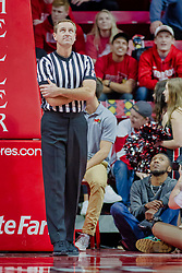 NORMAL, IL - February 05:  Referee Jeb Hartness during a college basketball game between the ISU Redbirds and the Valparaiso Crusaders on February 05 2019 at Redbird Arena in Normal, IL. (Photo by Alan Look)