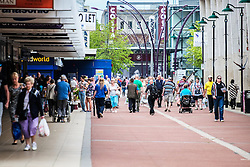 Shoppers in Basildon Town centre.