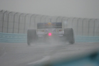 Patrick Carpentier in the wet at Watkins Glen International, Watkins Glen Indy Grand Prix, September 25, 2005