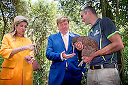 8-11-2016 CHRISTCHURCH - King Willem-Alexander and Queen Maxima of The Netherlands visit the Willowbank Wildlife Reserve where they see some Kiwi&rsquo;s in Christchurch, New Zealand, 8 November 2016. The Dutch King and Queen are in New Zealand for an 3 day state visit. COPYRIGHT ROBIN UTRECHT koning willem alexander en koningin maxima brengen een 3 daags staatsbezoek aan nieuw-zeeland nieuw zeeland kiwi vogel <br /> Willowbank Wildlife Reserve