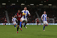 Football - 2018 / 2019 Premier League - AFC Bournemouth vs. Brighton & Hove Albion<br /> <br /> Leon Balogun of Brighton and Bournemouth's Joshua King go shoulder to shoulder whilst challenging for the ball at the Vitality Stadium (Dean Court) Bournemouth <br /> <br /> COLORSPORT/SHAUN BOGGUST