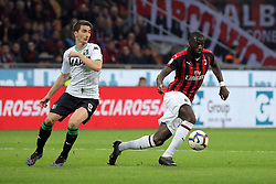 March 2, 2019 - Milan, Milan, Italy - Tiemoue' Bakayoko #14 of AC Milan in action during the serie A match between AC Milan and US Sassuolo at Stadio Giuseppe Meazza on March 02, 2019 in Milan, Italy. (Credit Image: © Giuseppe Cottini/NurPhoto via ZUMA Press)