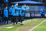 Forest Green Rovers manager, Mark Cooper gives the thumbs up from the touchline during the Vanarama National League match between Forest Green Rovers and Torquay United at the New Lawn, Forest Green, United Kingdom on 1 January 2017. Photo by Shane Healey.