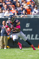 06 October 2013: Kick returner (23) Devin Hester of the Chicago Bears returns a punt against the New Orleans Saints during the first half of the Saints 26-18 victory over the Bears in an NFL Game at Soldier Field in Chicago, IL.