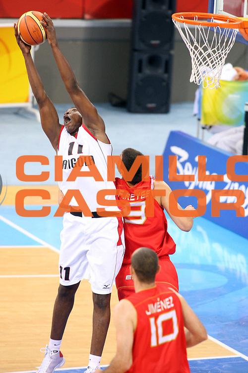 DESCRIZIONE : Beijing Pechino Olympic Games Olimpiadi 2008 Men Preliminary Round Angola Spain<br /> GIOCATORE : Felizardo AMBROSIO <br /> SQUADRA : Angola<br /> EVENTO : Olympic Games Olimpiadi 2008<br /> GARA : Angola Spagna<br /> DATA : 18/08/2008 <br /> CATEGORIA : Rimbalzo<br /> SPORT : Pallacanestro <br /> AUTORE : Agenzia Ciamillo-Castoria/G.Ciamillo<br /> Galleria : Beijing Pechino Olympic Games Olimpiadi 2008 <br /> Fotonotizia : Beijing Pechino Olympic Games Olimpiadi 2008 Men Preliminary Round Angola Spain<br /> Predefinita :