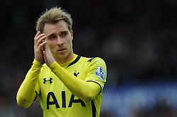 Tottenham Hotspur's Christian Eriksen applauds the away fans - Photo mandatory by-line: Dougie Allward/JMP - Mobile: 07966 386802 - 09/05/2015 - SPORT - Football - Stoke - Britannia Stadium<br />  - Stoke v Tottenham Hotspur - Barclays Premier League