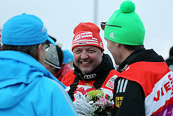 31.12.2011, DKB-Ski-ARENA, Oberhof, GER, Viessmann Tour de Ski 2011, FIS Langlauf Weltcup, Verfolgung Herren, im Bild Bundestrainer Jochen Behle (GER) zufrieden mit seinen Athleten // during men's pursuitof Viessmann Tour de Ski 2011 FIS World Cup Cross Country at DKB-SKI-Arena Oberhof, Germany on 2011/12/31. EXPA Pictures © 2011, PhotoCredit: EXPA/ nph/ Hessland..***** ATTENTION - OUT OF GER, CRO *****