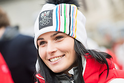 24.01.2018, Hofburg, Wien, Pyeongchang 2018, Vereidigung der Olympia-Mannschaft durch den Bundespräsidenten, im Bild Anna Veith (AUT) // Anna Veith of Austria during the swearing-in of the Austrian National Olympic Committee for Pyeongchang 2018 at Hofburg in Vienna, Austria on 2018/01/24, EXPA Pictures © 2018 PhotoCredit: EXPA/ Michael Gruber