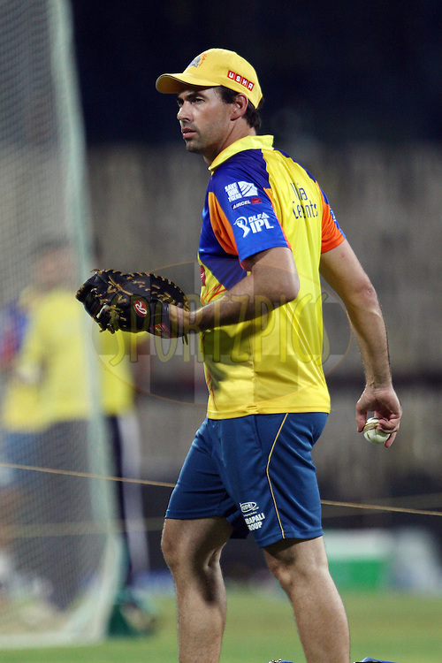 Stephen Fleming during the practice session of the Chennai Super Kings held at the MA Chidambaram Stadium in Chennai, Tamil Nadu, India on 18 April 2012...Photo by Jacques Rossouw/BCCI/SPORTZPICS .