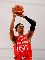 Bristol Flyers' Bree Perine lines up a free throw  - Photo mandatory by-line: Joe Meredith/JMP - Mobile: 07966 386802 - 18/04/2015 - SPORT - Basketball - Bristol - SGS Wise Campus - Bristol Flyers v Leeds Force - British Basketball League