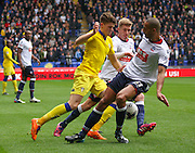 Darren Pratley Challenges during the Sky Bet Championship match between Bolton Wanderers and Leeds United at the Macron Stadium, Bolton, England on 24 October 2015. Photo by Pete Burns.