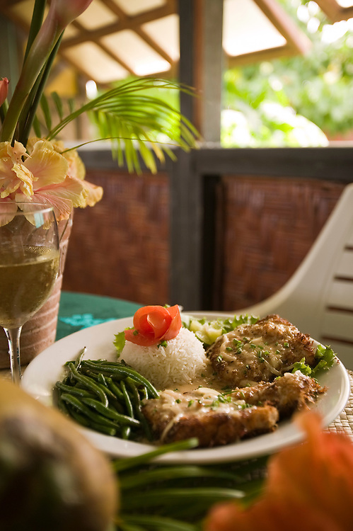 Huahine, French Polynesia, Temarara Restaurant, food shot, fish