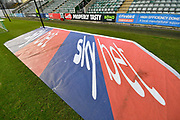 Sky bet 3D mat inside Home Park Stadium before the EFL Sky Bet League 1 match between Plymouth Argyle and Accrington Stanley at Home Park, Plymouth, England on 22 December 2018.