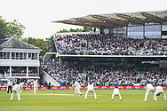 Alastair Cook of England drives on Day One of the NatWest Test Match match at Lord's, London<br /> Picture by Simon Dael/Focus Images Ltd 07866 555979<br /> 24/05/2018