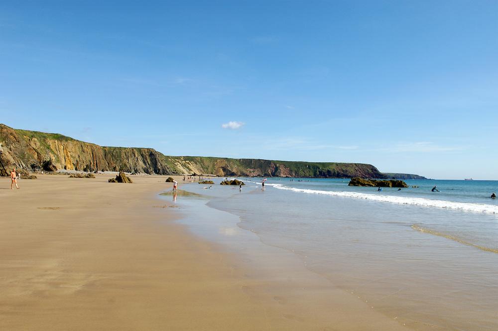 Marlowe sands beach, Pembrokeshire, Wales