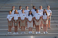 Pride of Providence Marching Band 2013-2014 stadium group photo.