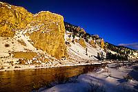 Gallatin River Canyon, Montana (near Yellowstone National Park) USA