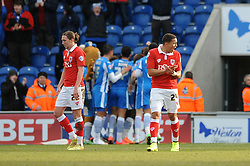 Bristol City's James Tavernier attempts to motivate his players after conceding a third goal to make it 3-0 - Photo mandatory by-line: Dougie Allward/JMP - Mobile: 07966 386802 - 21/02/2015 - SPORT - Football - Colchester - Colchester Community Stadium - Colchester United v Bristol City - Sky Bet League One