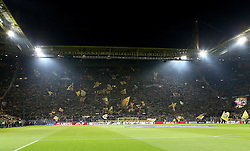Borussia Dortmund fans create the atmosphere before kick off with their infamous yellow wall - Mandatory by-line: Robbie Stephenson/JMP - 07/04/2016 - FOOTBALL - Signal Iduna Park - Dortmund,  - Borussia Dortmund v Liverpool - UEFA Europa League Quarter Finals First Leg