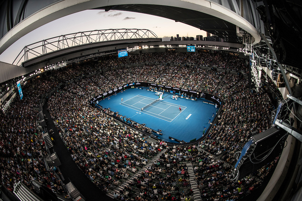 A general view of Rod Laver Arena on day eleven of the 2017 Australian Open at Melbourne Park on January 26, 2017 in Melbourne, Australia.<br /> (Ben Solomon/Tennis Australia)