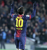 01.12.2012. Barcwelona, Spain. La Liga. Picture show Leo Mesi in action during match between FC Barcelona against Athletic at Camp Nou