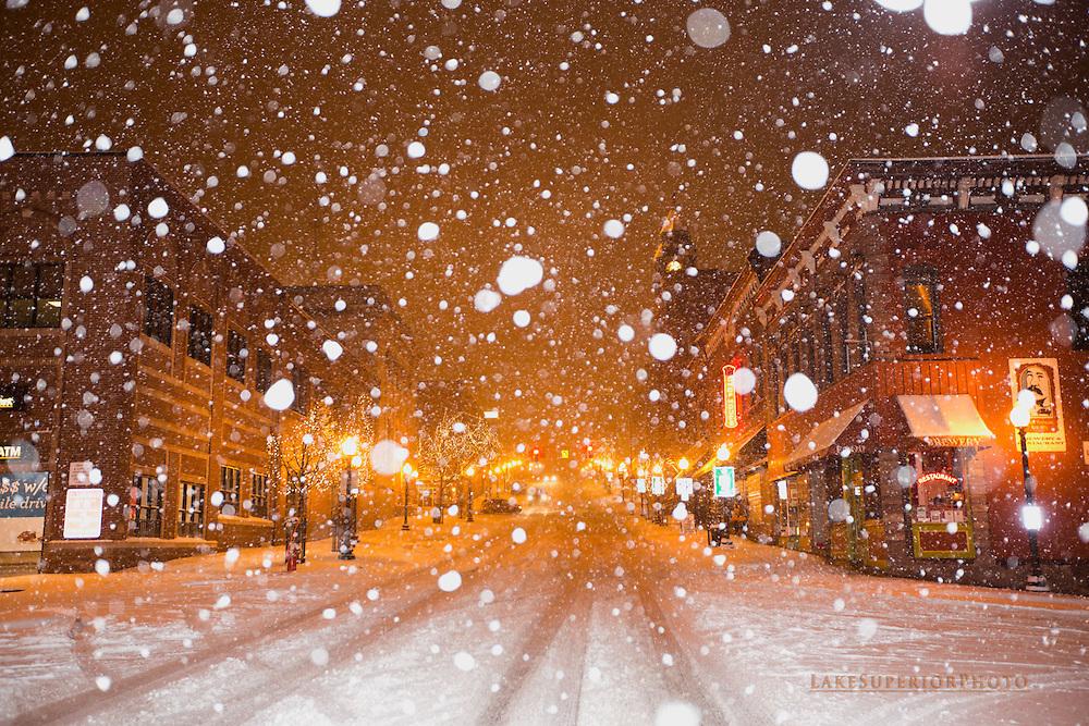Downtown Marquette, MI , the big snow, 11/10/2014