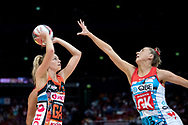 SYDNEY, NSW - JUNE 16: Jo Harten of the Giants takes a shot during the round 8 Super Netball match between the Sydney Swifts and the Giants at Qudos Bank Arena on June 16, 2019 in Sydney, Australia.(Photo by Speed Media/Icon Sportswire)