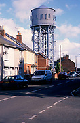 A752Y7 Water tower and houses Clacton Essex England