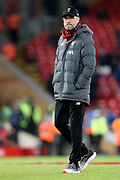 Liverpool Manager Jurgen Klopp during the Premier League match between Liverpool and Everton at Anfield, Liverpool, England on 4 December 2019.