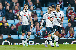 Harry Kane of Tottenham Hotspur celebrates after he scores to make it 0-1 - Mandatory byline: Rogan Thomson/JMP - 13/03/2016 - FOOTBALL - Villa Park Stadium - Birmingham, England - Aston Villa v Tottenham Hotspur - Barclays Premier League.
