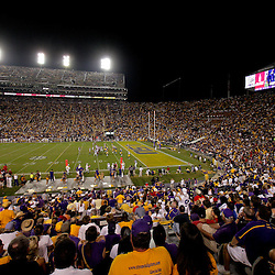 19 September 2009: A general view from the stands during a 31-3 win by the LSU Tigers over the University of Louisiana-Lafayette Ragin Cajuns at Tiger Stadium in Baton Rouge, Louisiana.