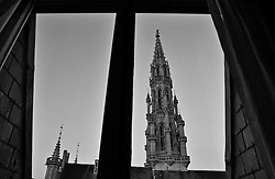 BRUSSELS, BELGIUM - MARCH-14-2003 - This view of the Brussels City Hall, seen from the bedroom of the Royal Suite at the Hotel Amigo, can be had for about $2,900 a night.  (PHOTO © JOCK FISTICK)