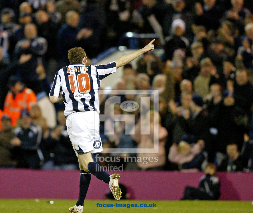 West Bromwich - Saturday, December 29th, 2007: Craig Beattie of West Brom celebrates his goal during the Coca Cola Championship match at The Hawthorns, West Brom. (Pic by Paul Hollands/Focus Images)
