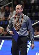 Princeton Tigers coach Sam Shweisky during an NCAA Championships opening round match against the Pepperdine Waves, Wednesday, April 30, 2019, in Long Beach, Calif. Pepperdine defeated Princeton 25-23, 19-25, 25-16, 22-25, 15-8.