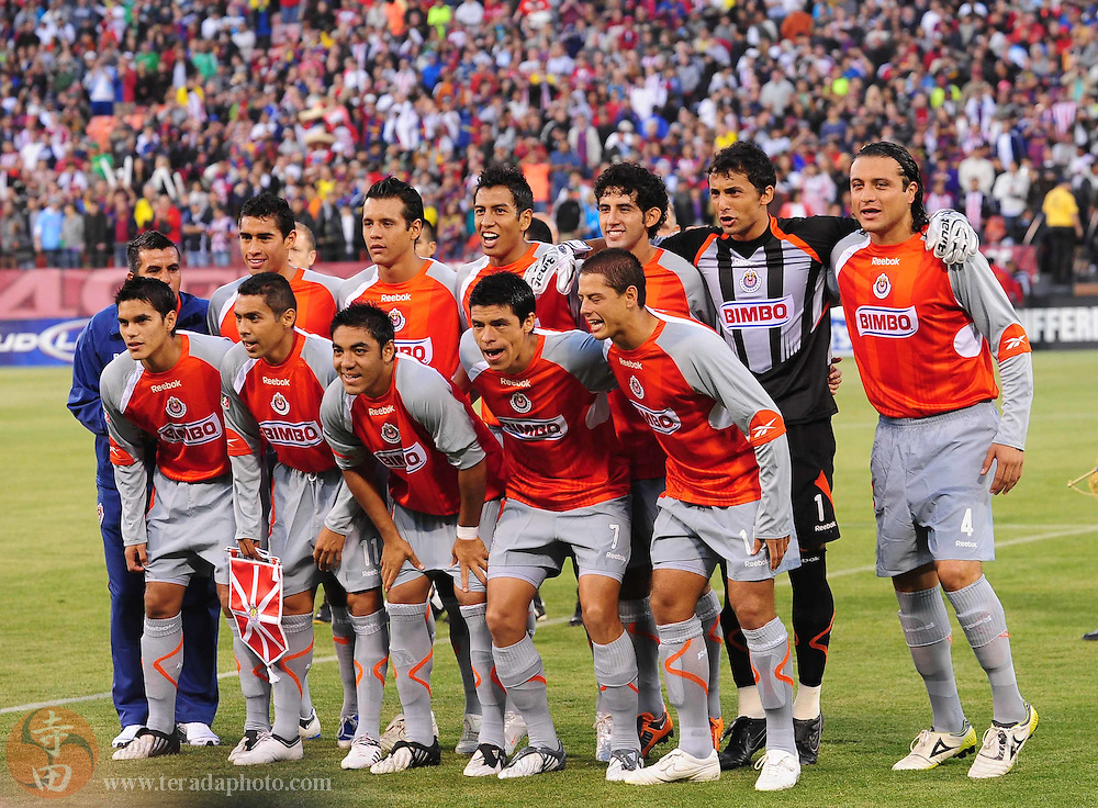 August 8, 2009; San Francisco, CA, USA; Chivas de Guadalajara team poses for a picture before the match against FC Barcelona in the Night of Champions international friendly contest at Candlestick Park.