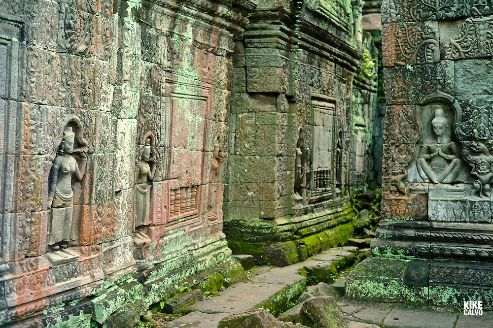 Ancient ruins of Preah Khan Temple, Angkor, Cambodia.