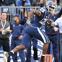 Oct 31, 2009; East Hartford, CT, USA; Connecticut wide receiver Eric Sawicki (29) runs after a catch during second half Big East NCAA football action in Rutgers' 28-24 victory over Connecticut at Rentschler Field.