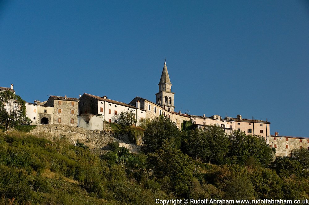 The medieval hill town of Buzet, Istria, Croatia