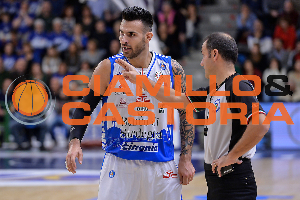 DESCRIZIONE : Campionato 2015/16 Serie A Beko Dinamo Banco di Sardegna Sassari - Dolomiti Energia Trento<br /> GIOCATORE : Brian Sacchetti Tolga Sahin<br /> CATEGORIA : Fair Play<br /> SQUADRA : Dinamo Banco di Sardegna Sassari<br /> EVENTO : LegaBasket Serie A Beko 2015/2016<br /> GARA : Dinamo Banco di Sardegna Sassari - Dolomiti Energia Trento<br /> DATA : 06/12/2015<br /> SPORT : Pallacanestro <br /> AUTORE : Agenzia Ciamillo-Castoria/L.Canu